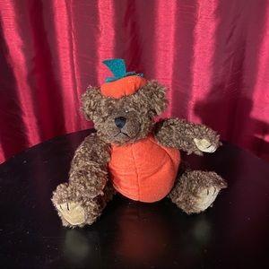 TY Beanie Baby Teddy Bear In A Pumpkin Costume 93